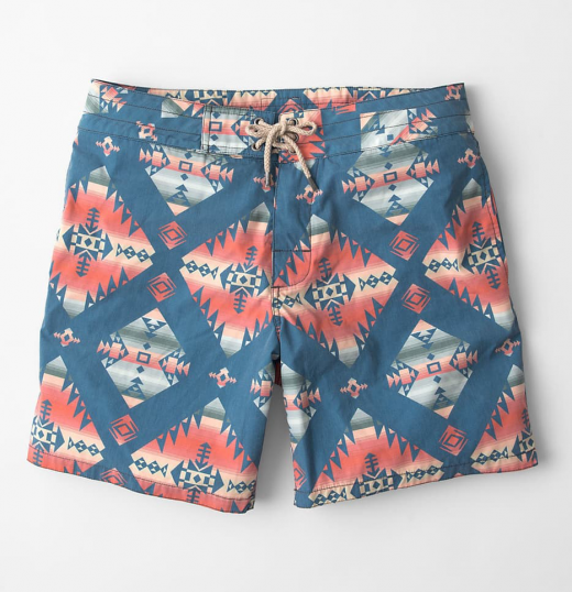 Faherty Glen Canyon Print Classic Mens Boardshorts