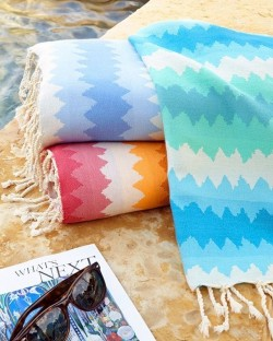 Scents and Feel Fouta Jacquard Beach Towel
