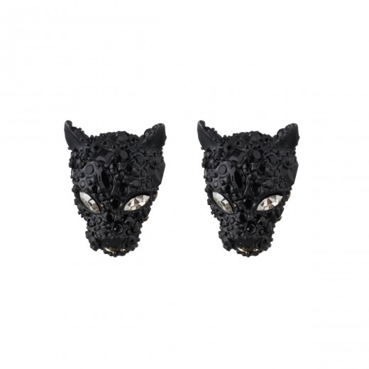 Alexis Bittar Crystal Encrusted Panther Post Earrings