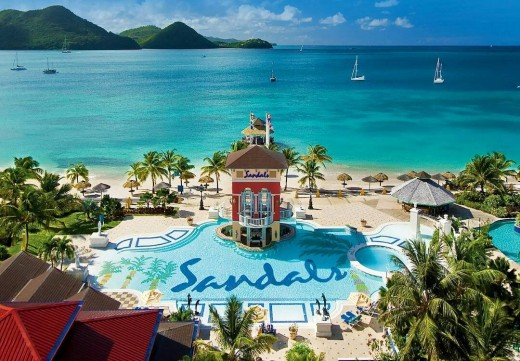 Sandals Resort All Inclusive Luxury Vacation in St Lucia, Caribbean
