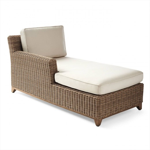 Somerset Left-facing Chaise with Cushions