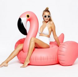 Sunnylife Inflatable Pink Flamingo Pool Float