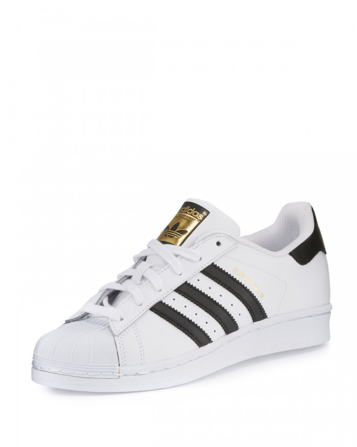Adidas White Shoes With Lace Sides