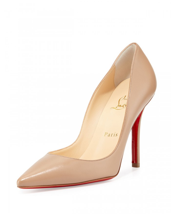 Christian Louboutin Apostrophy Pointed Red Sole Pump