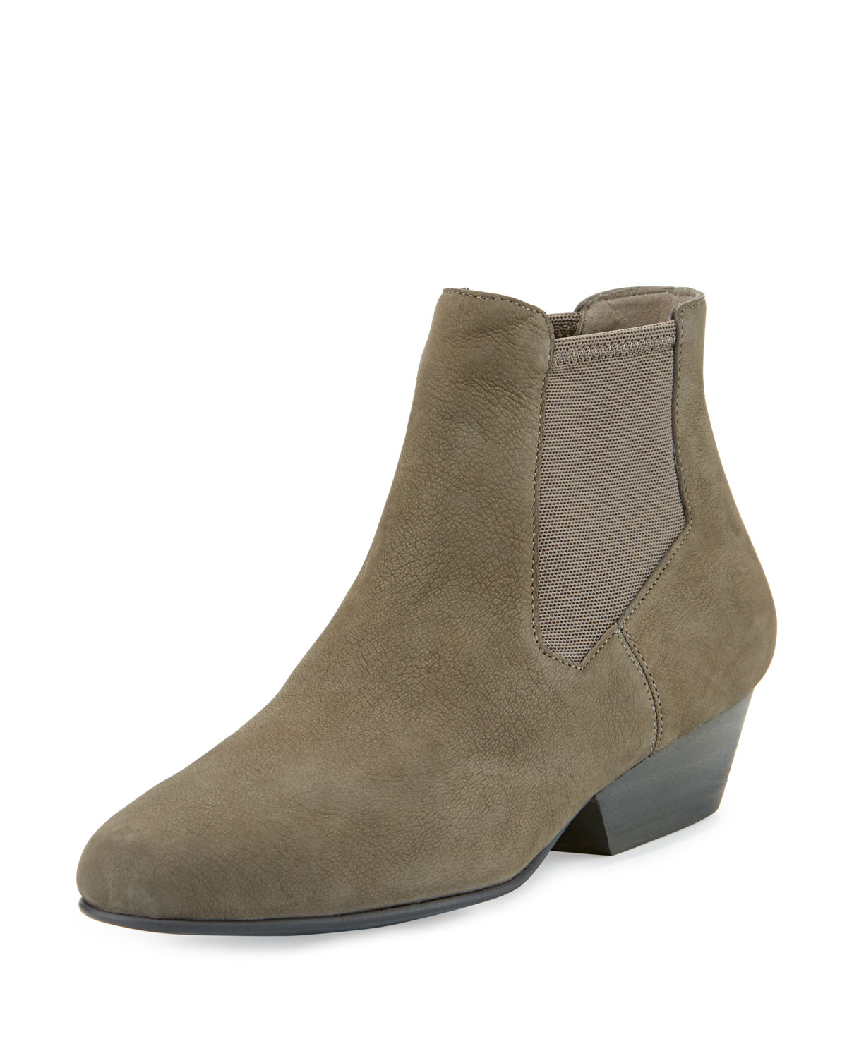 Eileen Fisher Knack Graphite Mesh-Panel Nubuck Bootie Shoes : MALIBU MART