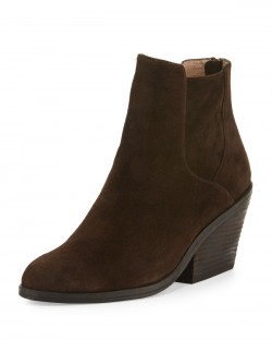 Eileen Fisher Peer Chocolate Suede Ankle Boots