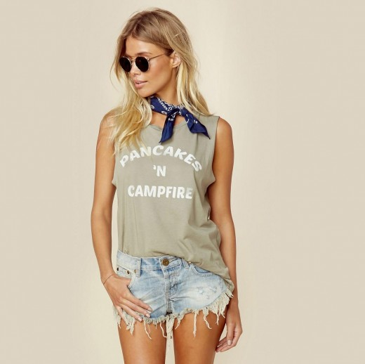 Pancakes 'n Campfire by Mate Womens Tank Top