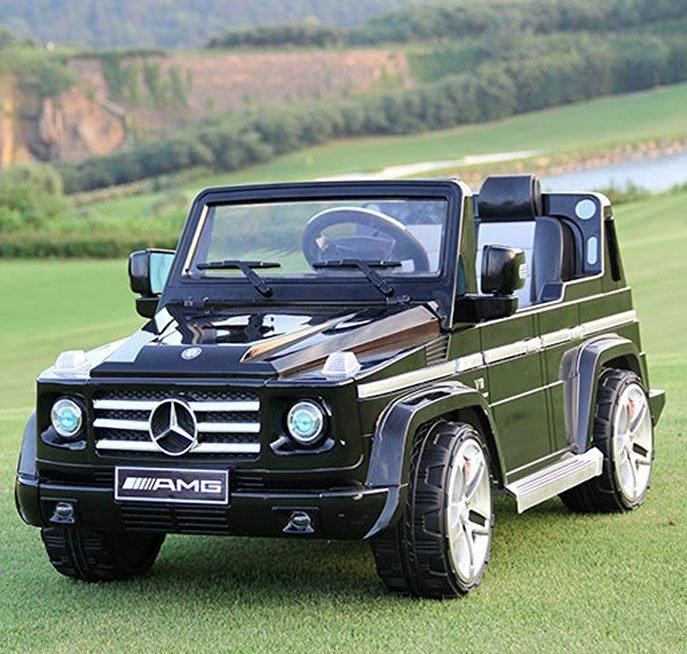 Mercedes benz g55 12 volt suv ride on toy car malibu mart for Mercedes benz ride on