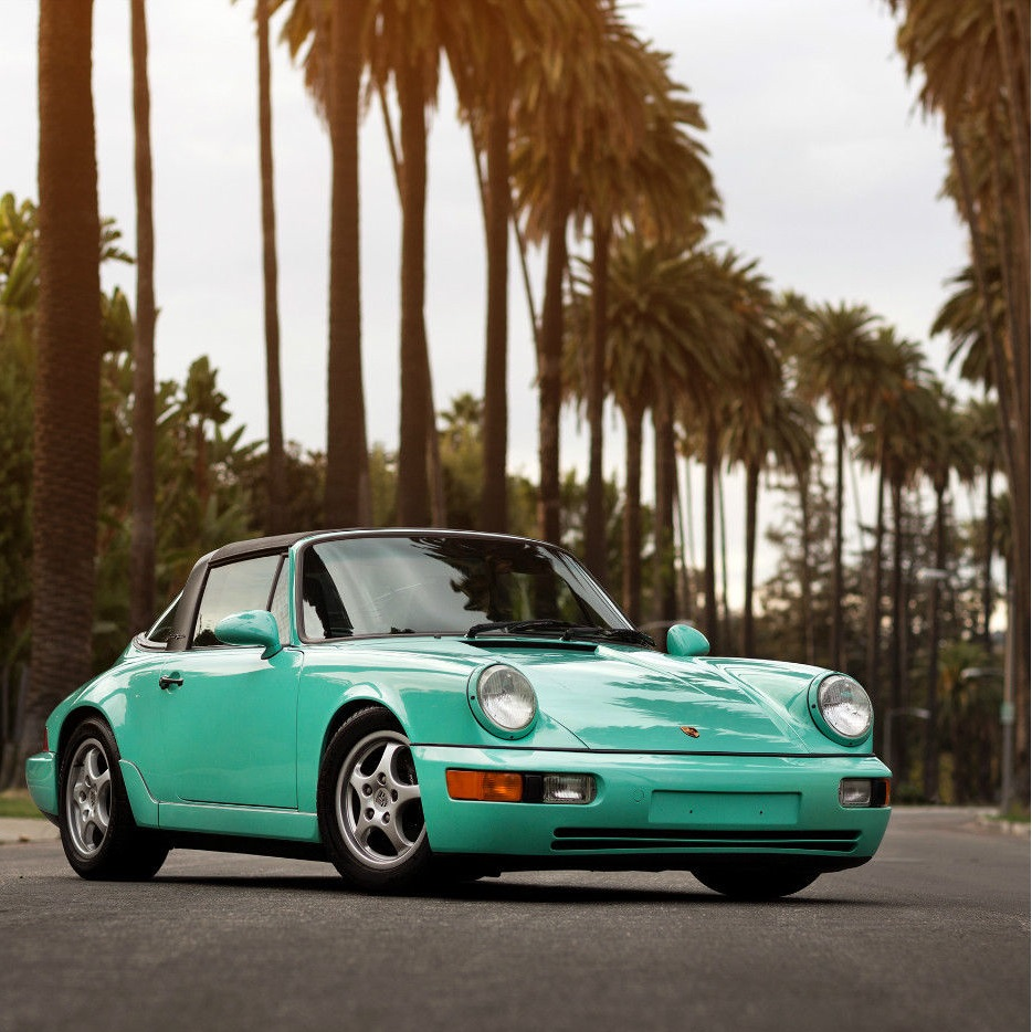 Porsche 911 Targa Carrera 2 Mint Green 1992 Sports Car