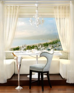The Penthouse Restaurant at the Huntley Hotel in Santa Monica California
