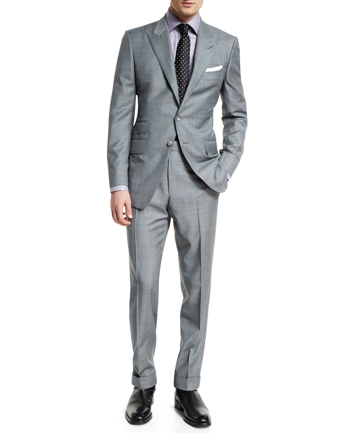 TOM FORD Ou2019Connor Base Sharkskin Two-Piece Suit : MALIBU MART