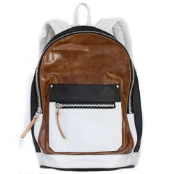 Khoi Le Cognac Colorblock Backpack Made in the USA