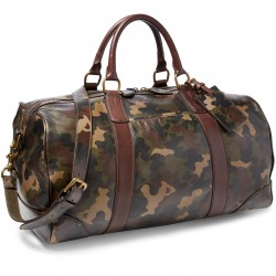 Polo Ralph Lauren Camouflage-Print Leather Duffel Bag