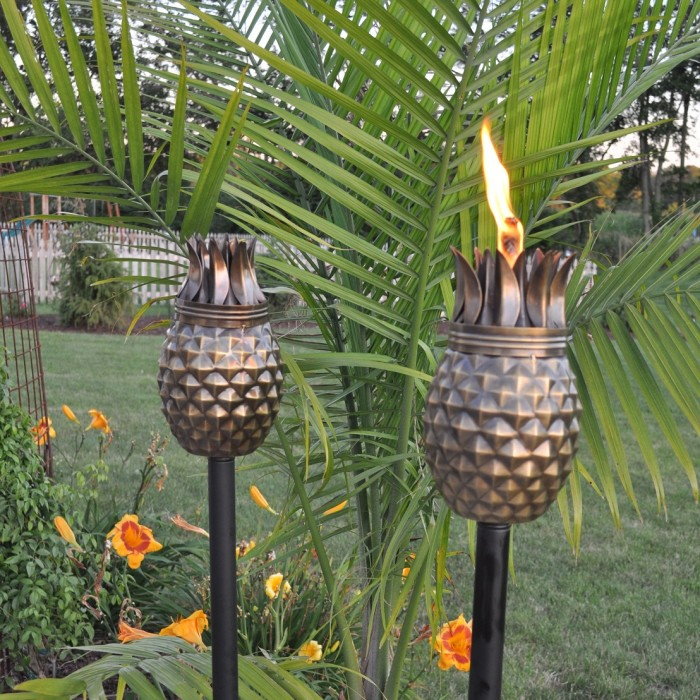 Ellyson Pineapple Tiki Torch by Bay Isle Home