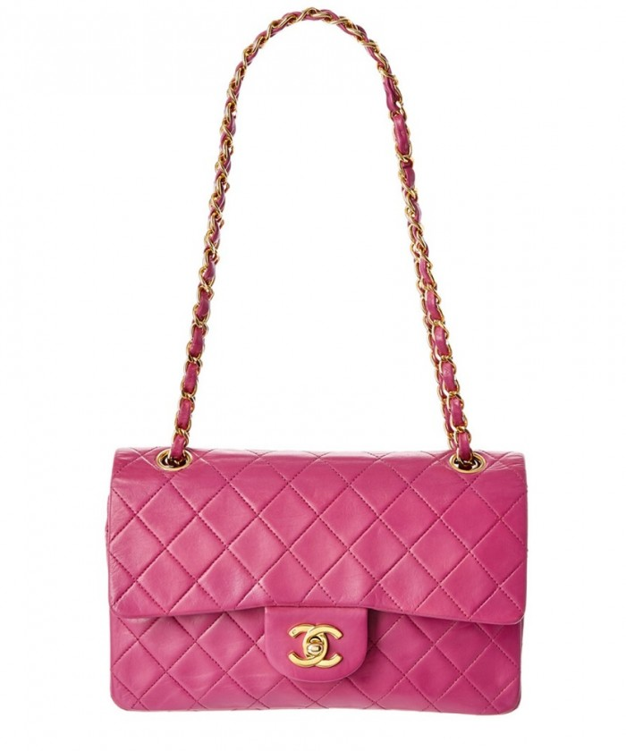 Chanel Pink Quilted Lambskin Small Double Flap Bag