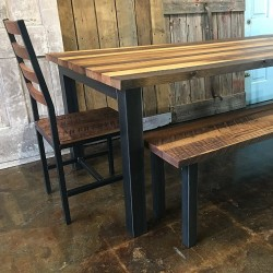 Handmade Industrial Reclaimed Wood Dining Table