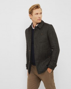 Ted Baker ROBSON Collared Wool Overcoat