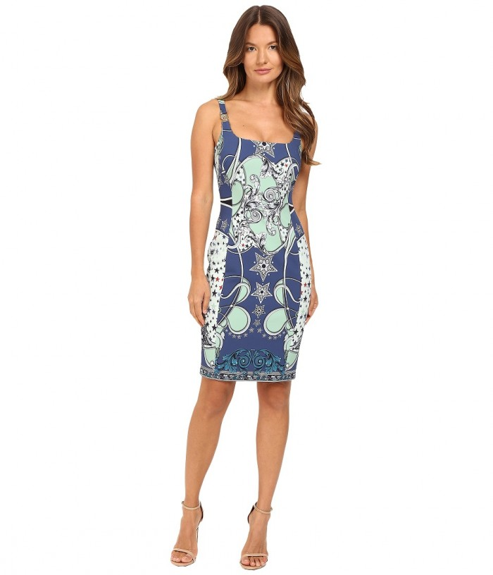 Versace Collection Scoop Neck with Straps Dress