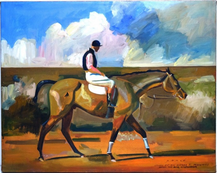 """""""After The Race"""" Original Oil Painting by Michael A. Ponce"""