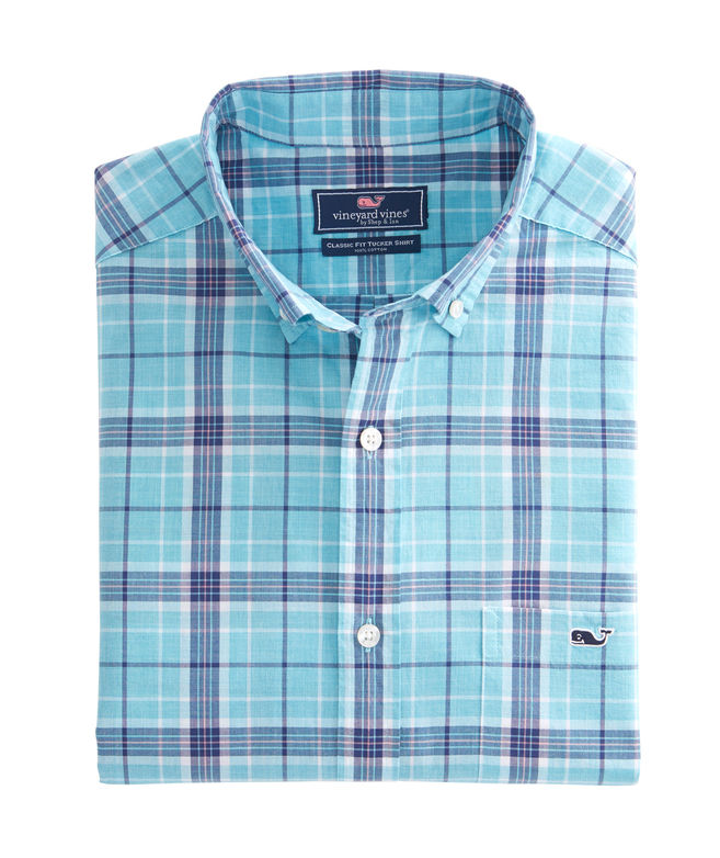 Vineyard Vines Freshwater Pond Plaid Classic Mens Tucker Shirt