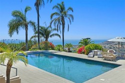 Sweetwater Mesa Home overlooking Malibu Civic Center to Point Dume in Serra Retreat