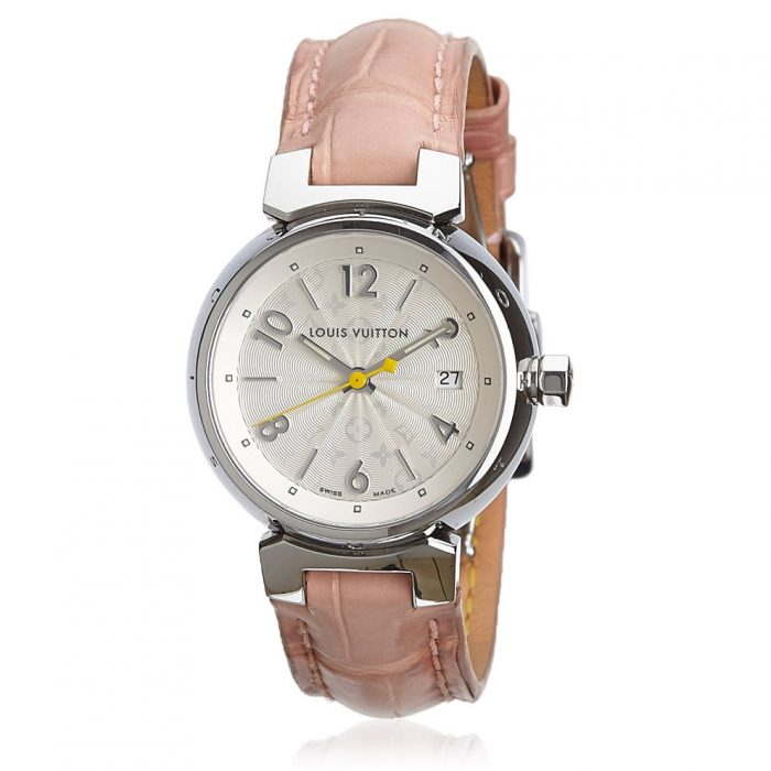 Louis Vuitton Tambour Stainless Steel Leather Watch