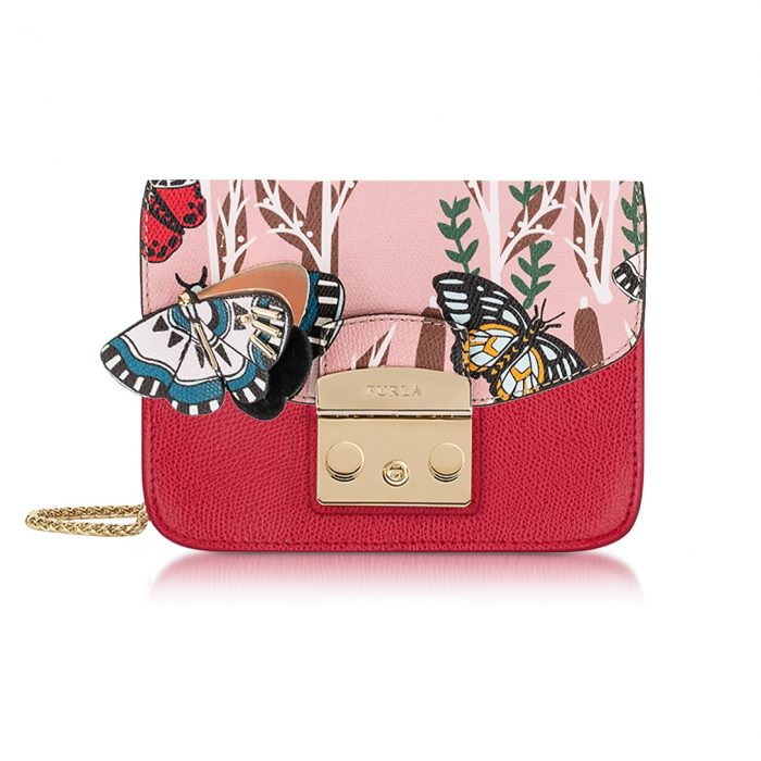 Furla Ruby Metropolis Crossbody Bag with Detachable Butterfly Flap