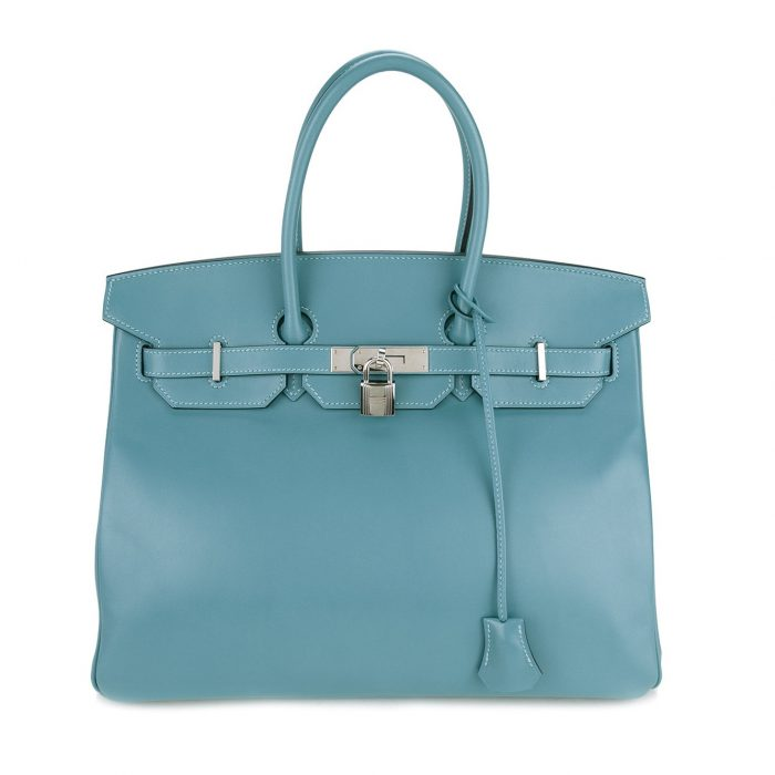 Hermès Vintage Blue Leather Birkin Bag