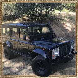 1987 Land Rover Defender Black 110 Wagon