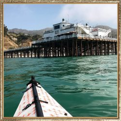 TGIF! Kayaking to the Malibu Pier for some Summer Drinks