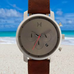 MVMT Chronograph 45mm Mens Leather Strap Watch
