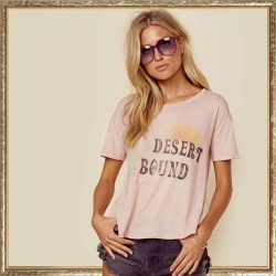 Desert bound Tee in Dusty Pink by People of Leisure