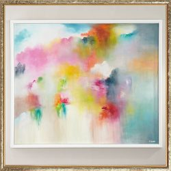 """""""Peppy Preppy"""" Original Abstract Watercolor Painting by RFA Fine Art"""