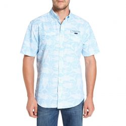VINEYARD VINES Tuna Batic Harbor Short Sleeve Sport Shirt