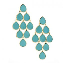Ippolita18k Rock Candy Cascade Earrings in Turquoise