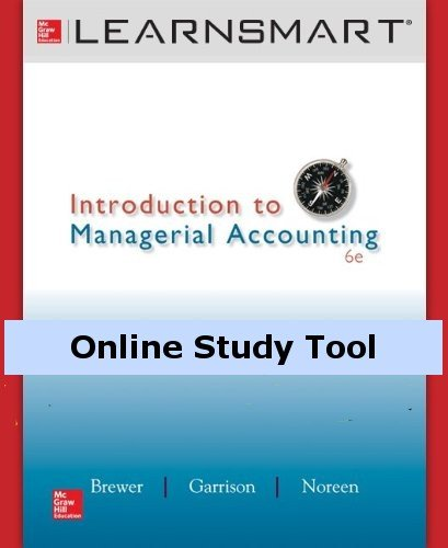 LearnSmart for Introduction to Managerial Accounting