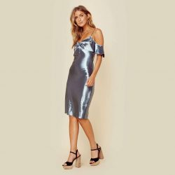 Wright Metallic Dress by Privacy Please