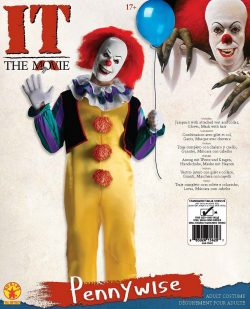 "Pennywise ""It"" The Movie Clown Adult Deluxe Halloween Costume"