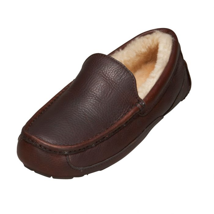 UGG China Tea Leather Ascot Slippers