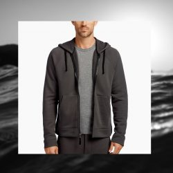 FRENCH TERRY HOODIE by JAMES PERSE
