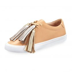 Loeffler Randall Logan Leather Low-Top Tassel Sneakers
