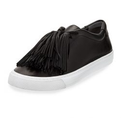 Loeffler Randall Logan Tassel-Tie Leather Sneakers