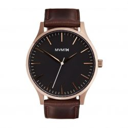 MVMT 40mm Leather Strap Watch