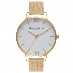 OLIVIA BURTON Big Dial 38mm Mesh Strap Watch