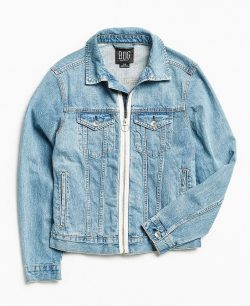 BDG Zip Front Denim Trucker Jacket