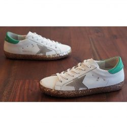 GOLDEN GOOSE Superstar Size 7 Leather & Glitter Preowned Sneakers