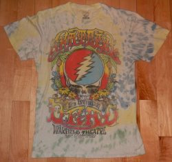 GRATEFUL DEAD 15th Anniversary Warfield Theatre San Francisco Retro 1980 Medium Tie-Dye T-Shirt