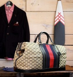 GUCCI 17″ Cabin Travel Gladstone Duffle Weekend Large Mens Unisex Carryall Tote Bag