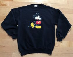 VINTAGE Mickey Mouse Walt Disney World Large Crew Neck Sweatshirt