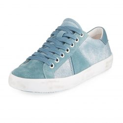Sam Edelman Baylee Shimmer Blue Shadow Suede Sneakers